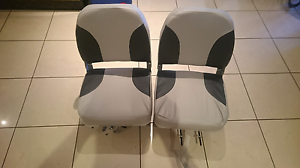 Foldable Boat Seats INCLUDING clamps that swivel West Hoxton Liverpool Area Preview