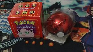Pokemon Jigglypuff Limited Edition Pokeball w/ 23K Gold Plated Trading Card