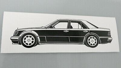 Mercedes Benz W124 500E Aufkleber/ Sticker 2 x schwarz neu