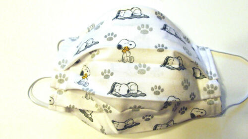 Peanuts Snoopy Sleeping Face Mask w/Filter Pocket Washable Reusable Cotton