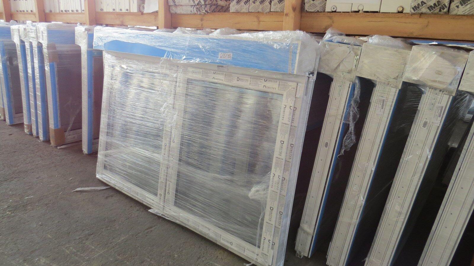 Fenster mit Rollladen Dreifach Glas Gurt Rollo 1200 mm Hoch vorrätig abholbar