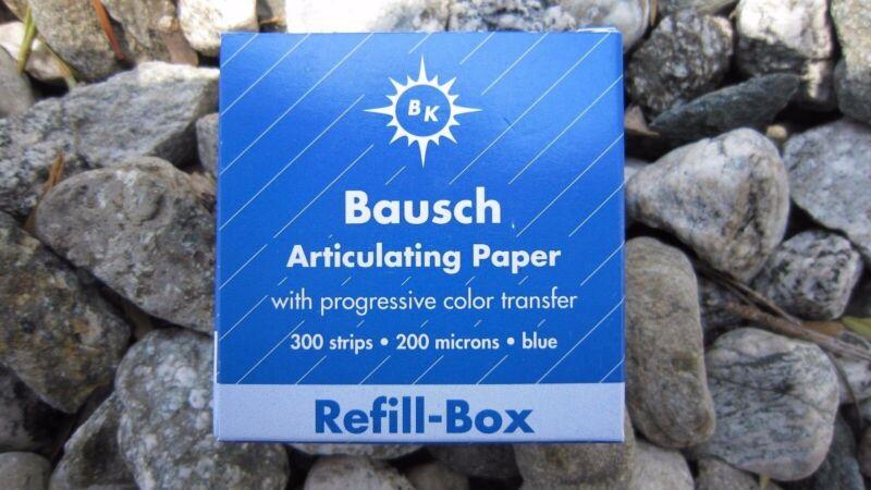 Bausch Articulating Paper Blue 200 Microns 300/STRIPS #BK-1001