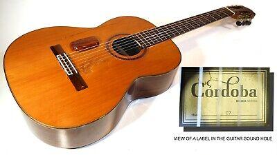 "CORDOBA C7 CLASSICAL ACOUSTIC NYLON STRING ROAD WORN GUITAR "" IBERIA SERIES"""