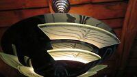 80er Deckenleuchte Chrom mit Glaseinlagen Wohnzimmerlampe Vintage Frankfurt (Main) - Ostend Vorschau