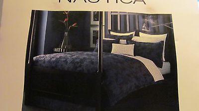 1 Nautica Havana White & Blue Basketweave European Pillow Sham NIP Nautica Blue European Sham