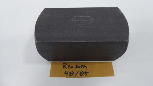 Rexroth 48/85 Check Valve 48-85 RV-30-10/12-350 Bar