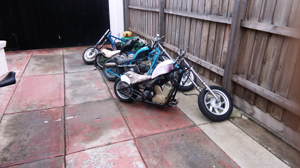 Choppers all different lots of parts moters fairing