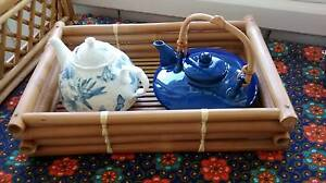 JAPANESE & PORTMEIRION ENGLISH TEAPOTS WITH BAMBOO TRAY Paddington Brisbane North West Preview