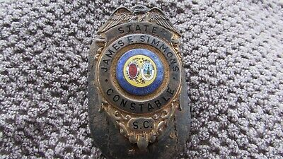 VERY COOL ANTIQUE OBSOLETE SOUTH CAROLINA CONSTABLE BADGE JAMES E. SIMMONS