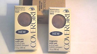 L@@K 2 X Two Pack NEW ~Covergirl Eye Shadow Magnetic Pot Refills ~ Violet -