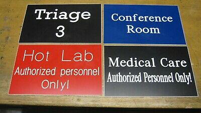 Custom Engraved Personalized Plastic Sign - New - 4x6