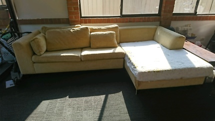Gold Fabric Couch