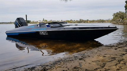 Ski boat with custom interior