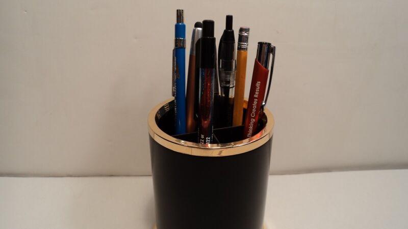 Lerche 36020 Black & Gold  Desk Pencil Cup