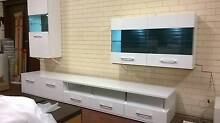 5pce TVunit/storage set, white gloss..A8 Malaga Swan Area Preview