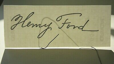 auto-collant HENRY FORD signature black lettering sticker