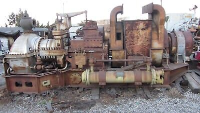 Westinghouse Electric Turbogenerator 1500KW Base-Mounted With Gearbox