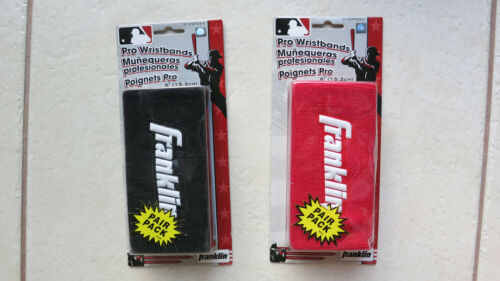 "2 packs Franklin Pro Wristbands 6"" RED & BLACK (Pair pack) No 3125 P6 wristband"