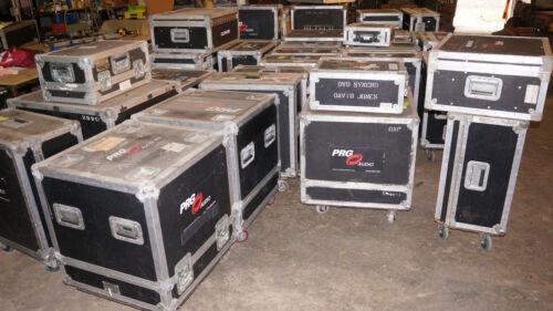 Lot 55-60 Heavy Duty Anvil type Flight Road Cases Hinged, Trunk, Mixer, PullOver