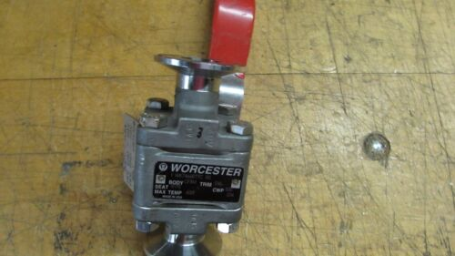 Flowserve Triclover Ball Valve, 1, Stainless EO4, Used