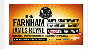 John farnham tickets Narangba Caboolture Area Preview