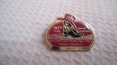 1996 National Western Stock Show Denver 90th Annual Horse Show& Rodeo Guest Pin