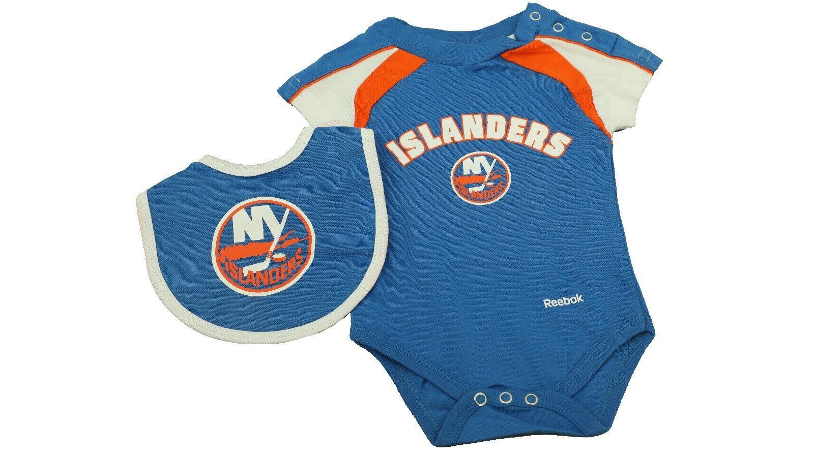 new product c2df2 f4c57 Details about NHL New York Islanders Genuine Reebok Infant 3 Piece Creeper  Set Bib & Boots New