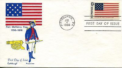 1968 HISTORIC FLAGS OF AMERICA FORT MCHENRY FLAG CACHET CACHET UNADDRESSED FDC