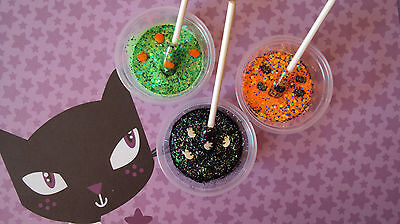 glitter mix acrylic gel nail art    3  HALLOWEEN MIXES         * FRIGHT TRIO *](Halloween Gel Nail Art)