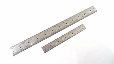 Taytools Set 6 12 Machinist Ruler Rule 4r 8th 16th 32th 64th Stainless