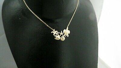 Solid 14K 585 yellow gold starfish sea turtle necklace 7.7 grams 14k Gold Starfish Necklace