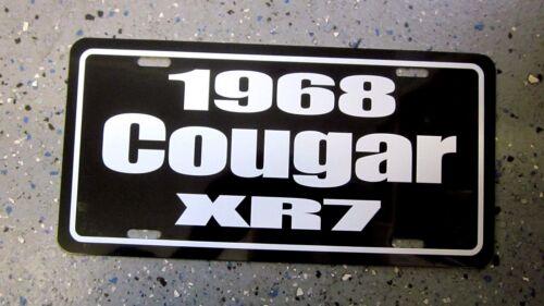 1968 Mercury Cougar XR7 license plate car tag 68  top cat merc eliminator