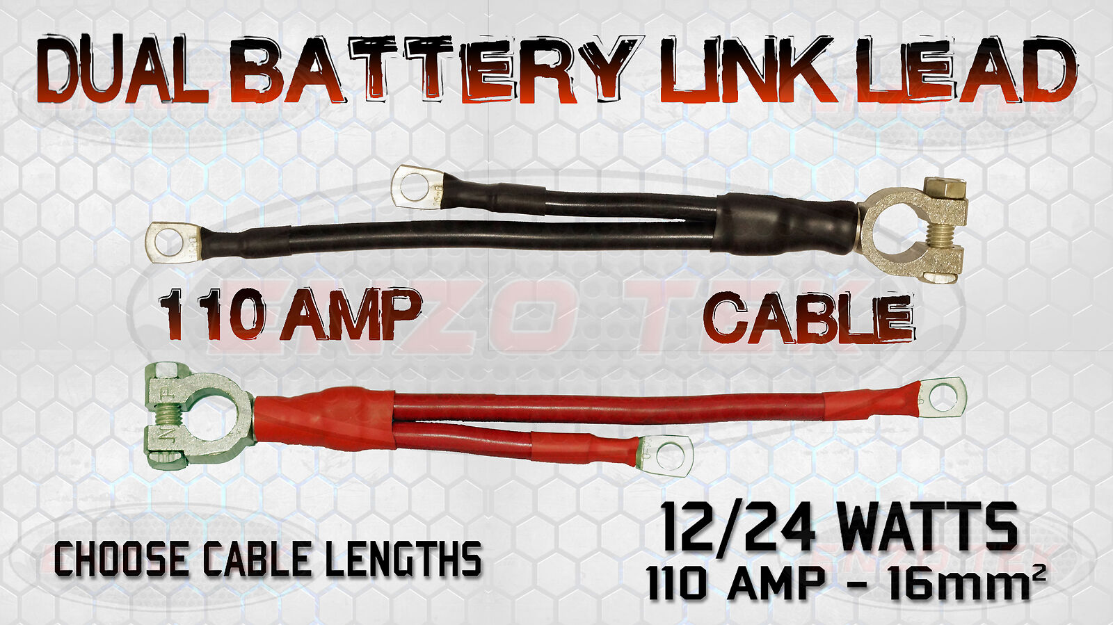 LIVE EARTH LEISURE TWIN BATTERY TERMINAL LINK LEAD CABLE 110 AMP MARINE BOAT
