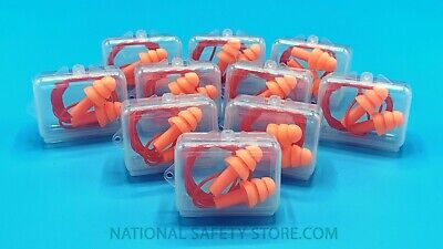 Ear Plugs 10 Pairs Orange Silicone Ear Plugs 33db Anti Noise Hearing Protection
