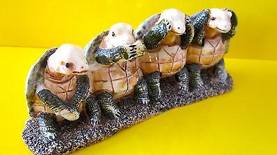Schildkröten Nicht hören , nicht sehen, nicht sprechen, nicht tun Glücksbringer