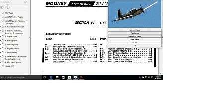 Mooney Aircraft M20 C - G service maintenance manual n engine OH library + A/Ds