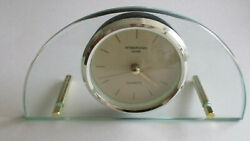 International Silver Quartz Mantle/Desk Clock