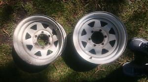 2 x Roh - 15inch steel wheels Langwarrin Frankston Area Preview