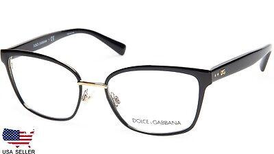 NEW D&G Dolce&Gabbana DG 1282 1287 BLACK EYEGLASSES GLASSES FRAME 53-17-140 B39