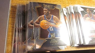 2014 15 Panini Select Joel Embiid Rookie Card Rc  90 Sixers Hot