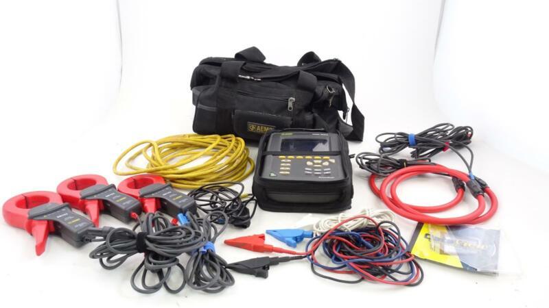 AEMC 3945-B PowerPad 3PH Power Quality Analyzer Meter w 3 SR193 & extras