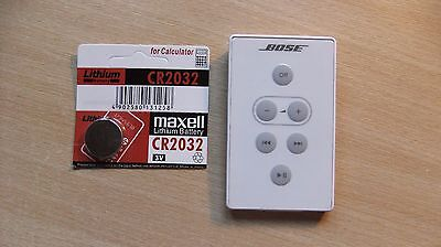 Genuine Bose White SoundDock Series 1 Remote Control and New Battery Excellent