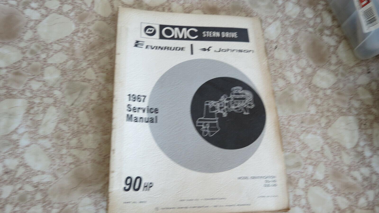 1967 OMC Stern Drive Evinrude Johnson 90HP Service Manual DU-14D DUE-14D