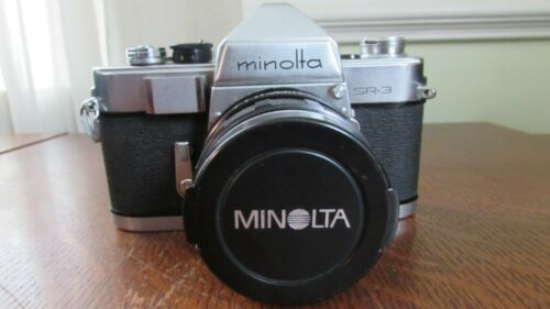 Minolta SR-3 35mm SLR Film Camera w/ Rokkor PF 55mm f/1.8 Lens