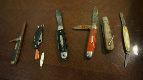 LOT OF 8  USED POCKET KNIVES CAMILLUS KAMP KING ROBELSON JAPAN AS IS LOT 21