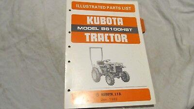 Original Kubota Illustrated Parts List For B6100hst