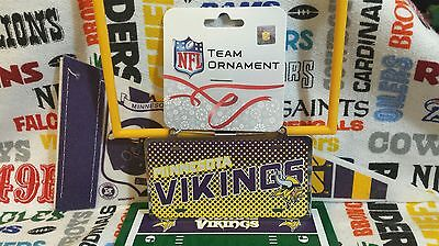 Vikings Ornaments (NFL Minnesota Vikings metal license plate ornament by Forever Collectibles)