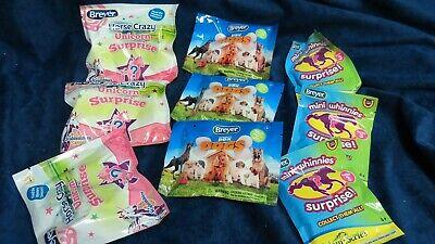 Breyer 9 unopened Stocking stuffers - 3 Unicorns,3 mini, 3 Pocket dogs - New