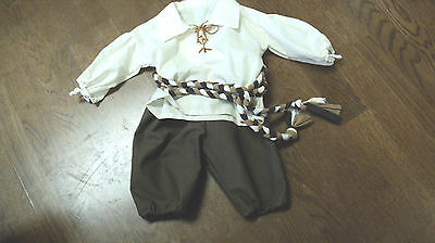 BOY'S RENAISSANCE PEASANT OUTFIT SCA MEDIEVAL LARP PIRATE COSPLAY SZ 2-3 TODDLER
