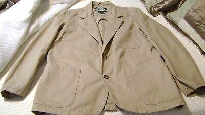 Mens Sierra Trading Post Jacket Coat Hunting Camping Outdoors Khaki Tan Size Xl